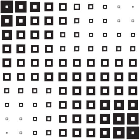 Abstract geometric background of black squares, halftone Illustration