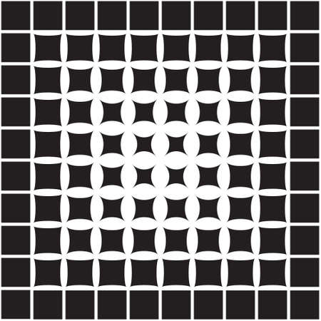 Abstract geometric pattern from the decreasing geometric forms to the center, halftone