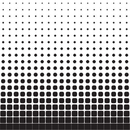concave: Abstract seamless geometric pattern from figures of different sizes, halftone Illustration