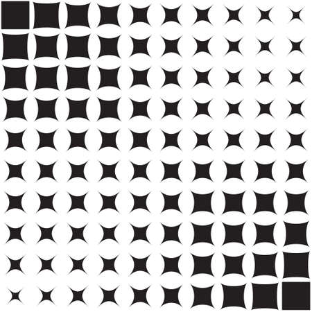 Abstract pattern of geometric shapes, halftone