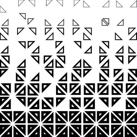 Abstract geometric background from the outlines of triangles, halftone Illustration