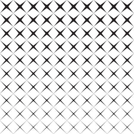 Abstract seamless black and white pattern of rhombuses, halftone, background