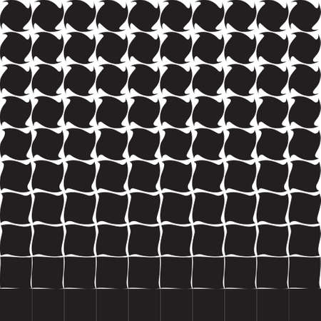 Abstract black and white pattern from geometric objects, halftone