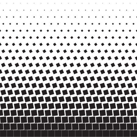 Abstract seamless geometric background of black turning squares, halftone