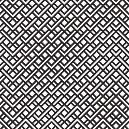 Abstract seamless geometric pattern from black and white stripes, zigzags