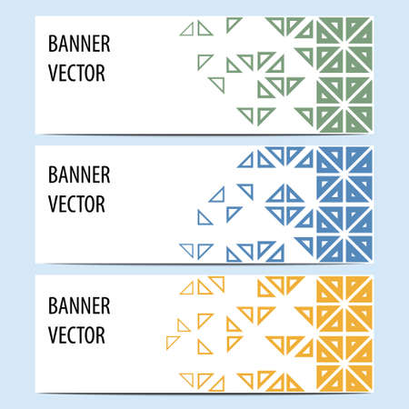 Vector abstract geometric banners, set