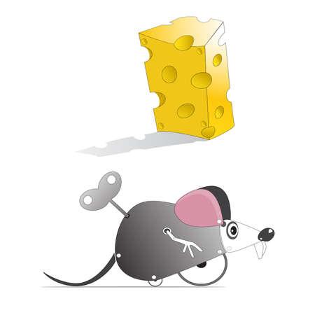 mechanical mouse: Mechanical Mouse Illustration