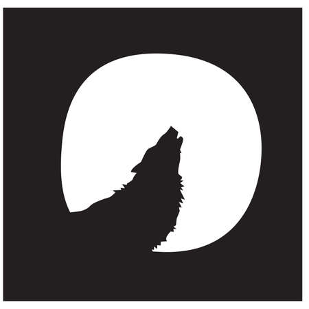 Wolf with Moon