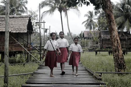 Going Home from School, Asmat