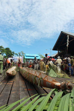 Cultural Festival Boat, Asmat