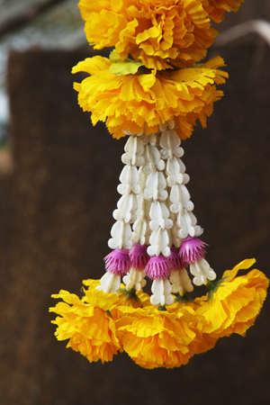 festoon: Yellow garland festoon in Thailand