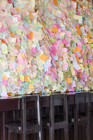 Colorful paper notes on the wall Sajtókép
