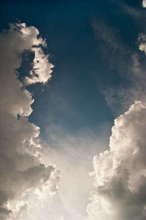 sky clouds: white clouds
