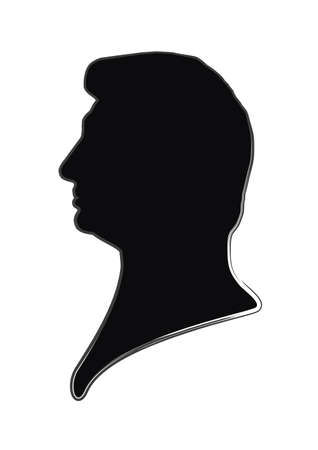 bust: human face in profile Illustration