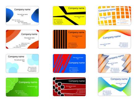jeu de cartes: cartes de visite Illustration