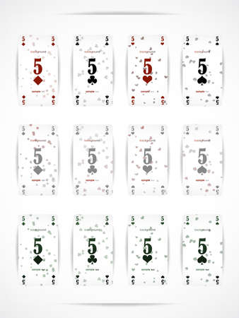 12 modern and stylish high-quality business cards in the form of playing cards Stock Vector - 13444603