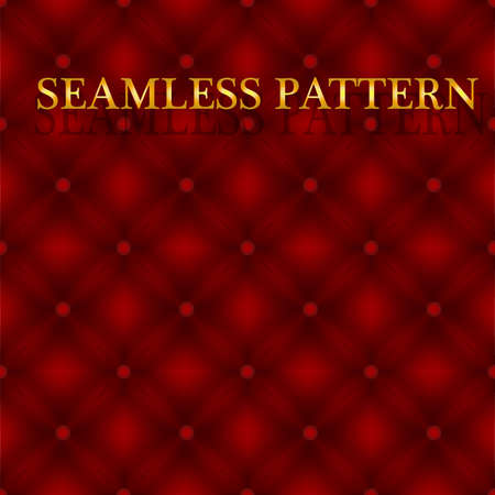 Upholstery seamless pattern for casino or luxury, fashion advertising Illustration