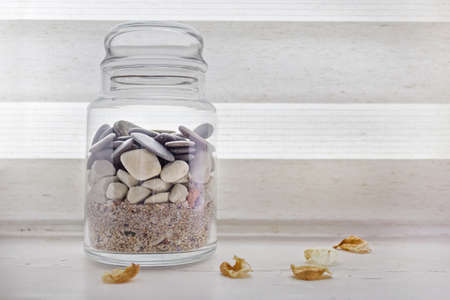 jars: Rocks and sand in a jar