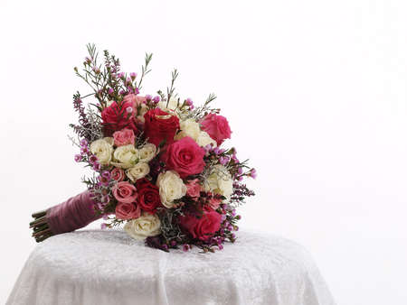 still life with wedding bouquet