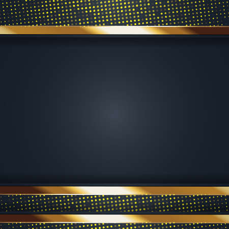 gold banner Abstract vector background board for text and message design modern. vector illustration