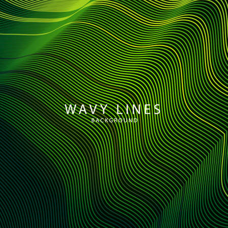 Wave Lines Pattern an Abstract Stripe Background, Vector