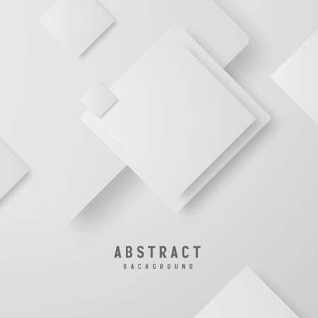 banner Abstract geometric white and gray color background vector illustration. Zdjęcie Seryjne