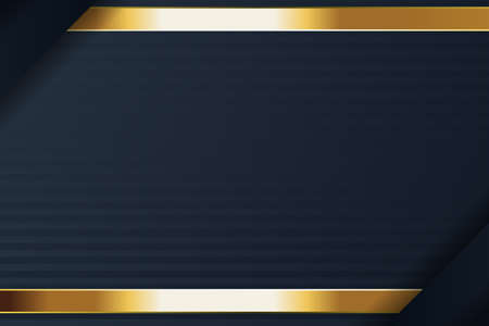 gold banner design with minimalist modern style gold luxury