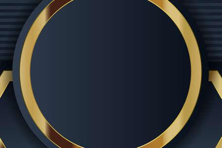 gold banner design with minimalist modern style gold luxury