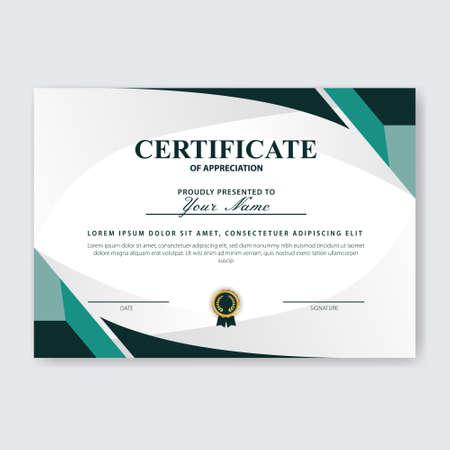 Creative Certificate of Appreciation Award Template Stock Photo