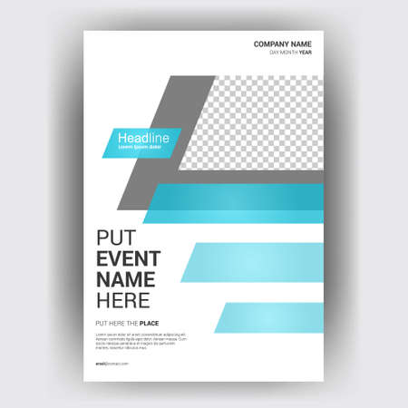 Flyer brochure design template cover. business cover size A4 template