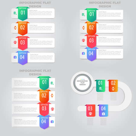 Business data visualization. Process chart. Abstract elements of graph, diagram with steps, options, parts or processes. Vector business template for presentation. Creative concept for infographic. Archivio Fotografico