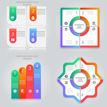 Business data visualization. Process chart. Abstract elements of graph, diagram with steps, options, parts or processes. Vector business template for presentation. Creative concept for infographic. Imagens
