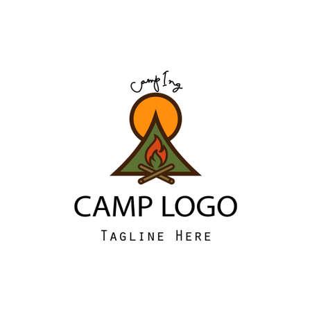 camp logo concept modern design