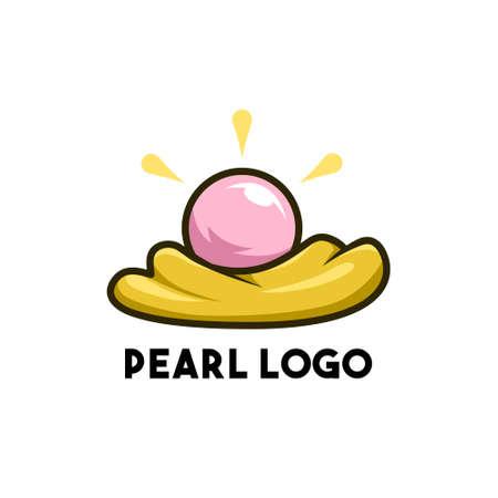 pearl logo design concept modern art 免版税图像 - 157710510