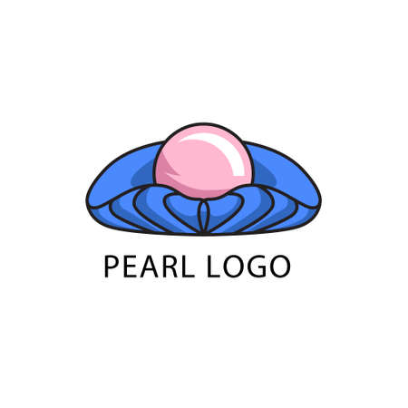 pearl logo design concept modern art