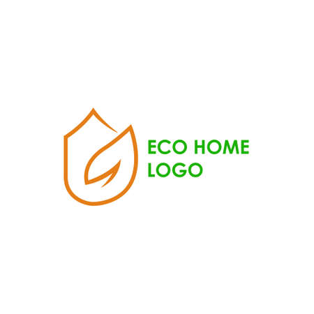 eco home logo modern concept design