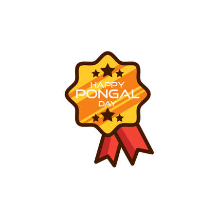 pongal day logo design art modern