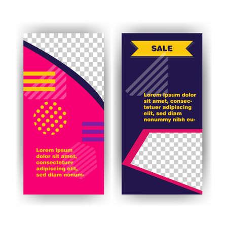 Social media pack. Business presentation template. Set of modern square blog posts Editable simple info banner