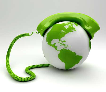 Een wereldwijde telecommunicatie concept Stockfoto
