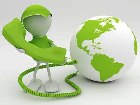 Voice over internet protocol concept. 3d rendered illustration. Stock Illustration - 8601168