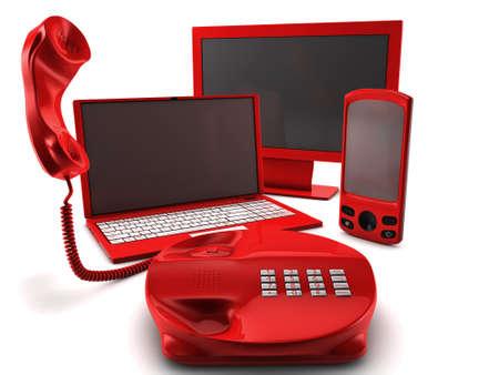 A bundle of four main telecommunication services
