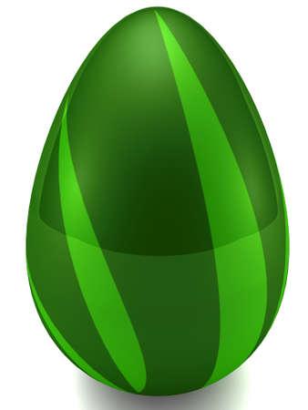 Easter egg isolated on white. 3D render
