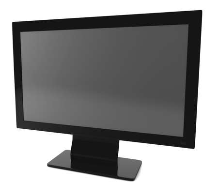 TV set isolated on white. 3D render concept