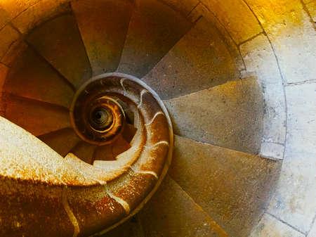 Spiral Stairs Fibonacci Building Stock Photo