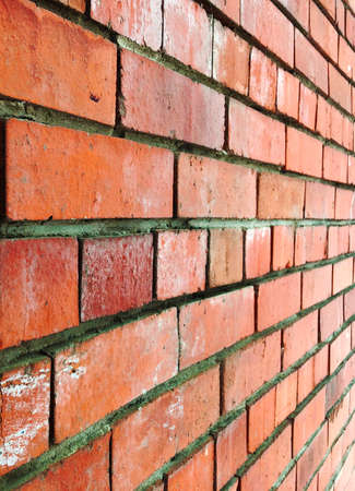 Urban wall brick texture background in perspective red classic color Stock Photo
