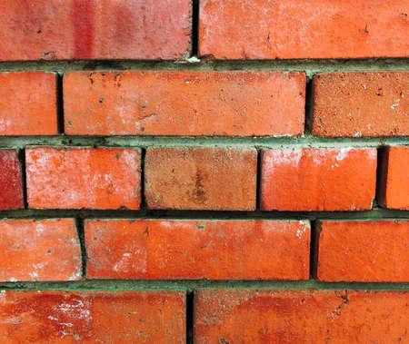 urban wall brick texture backgroun red classic collor Stock Photo