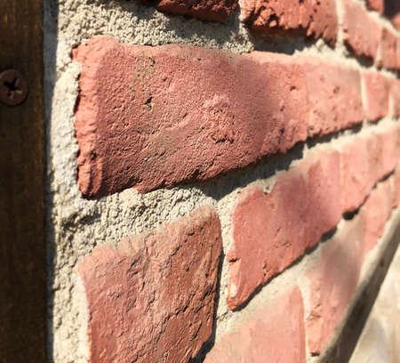 brick wall perspective clolseuptexture background Stock Photo