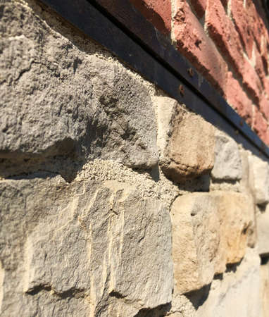 stone and brick wall perspective
