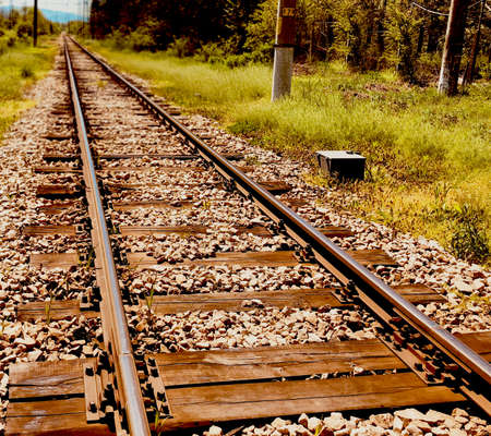 rail train road perspective way hope concept