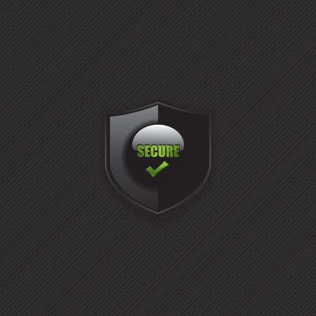 Secure check mark shield icon